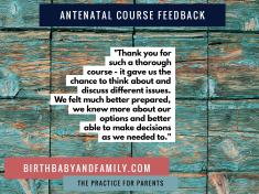 antenatal course feedback