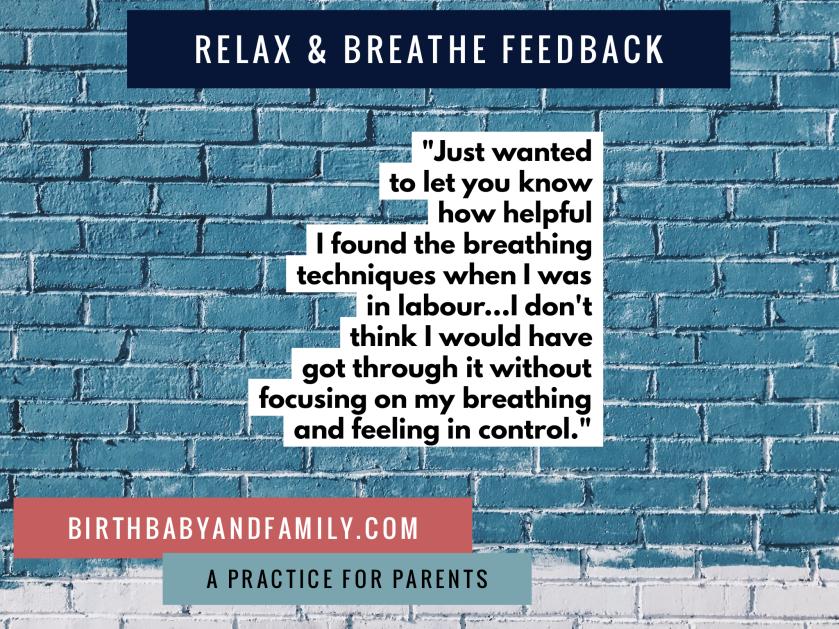 relax & breathe feedback